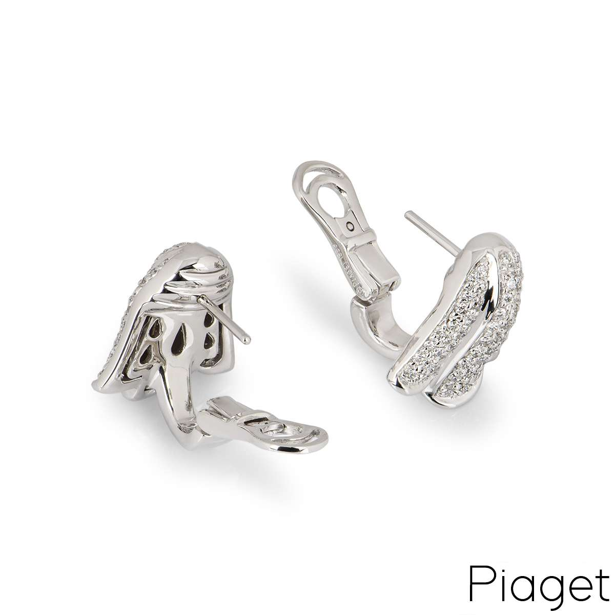 Piaget White Gold Tulip Earring & Pendant Suite